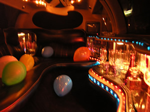 limo interiour at night (nice in the dark)